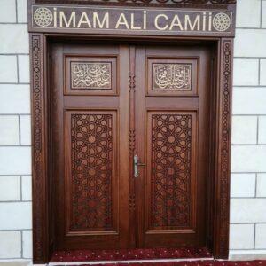 Tekirdağ Kapaklı İmam Ali Cami ahşap uygulaması